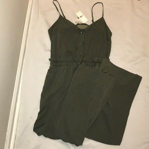 Olive green jumpsuit Size medium spaghetti straps